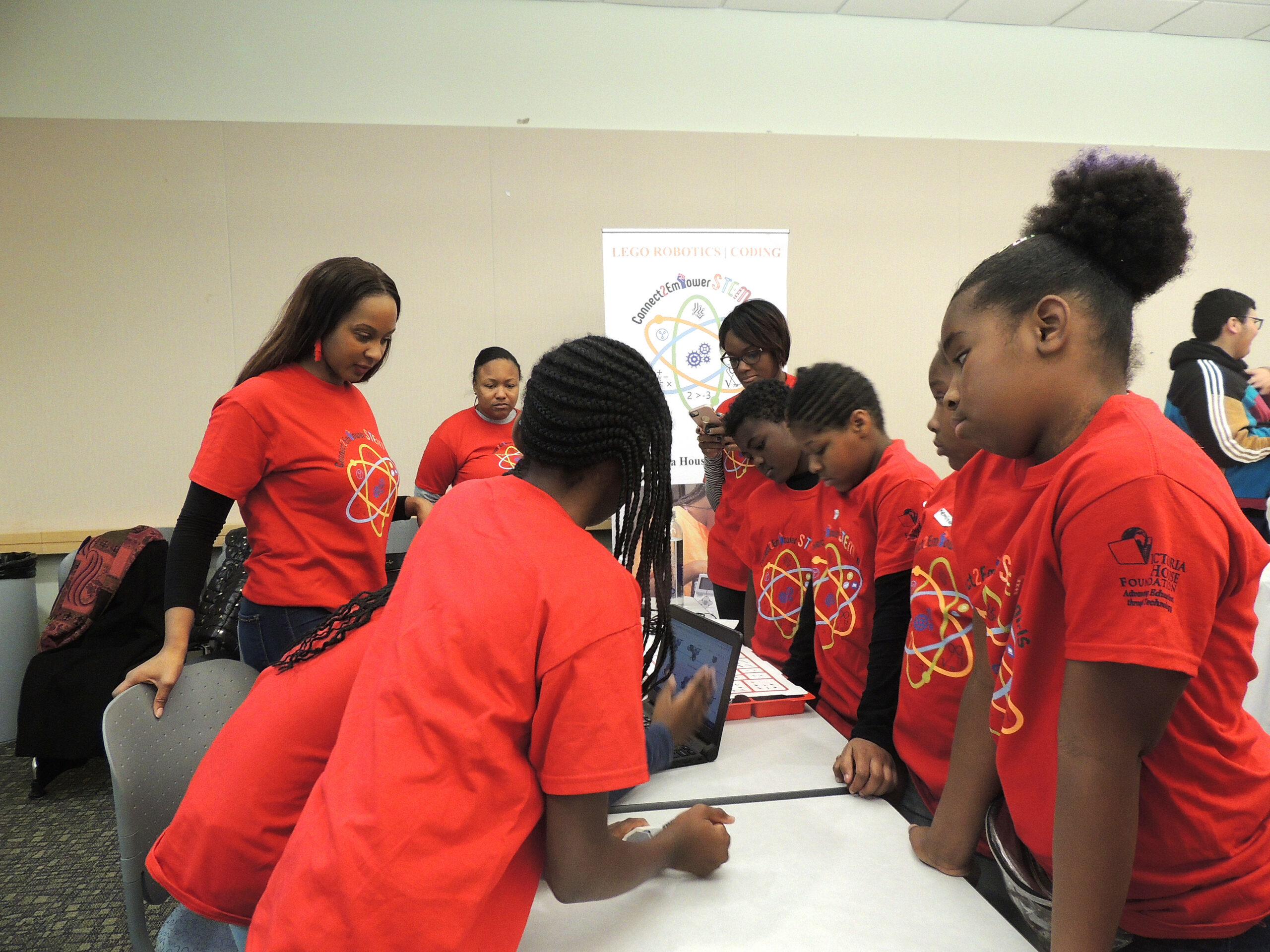 Participants at the VHF Connect2Empower STEM Girls Launching